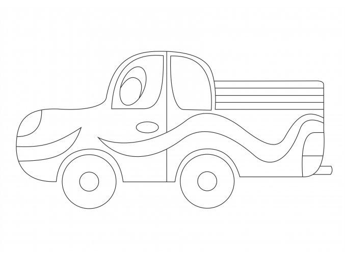 Šablona Nákladní autíčko