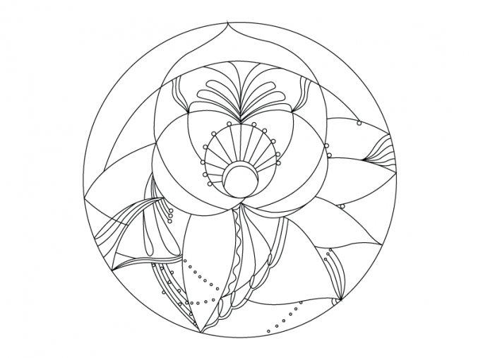 Šablona Mandala 0418