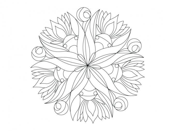Šablona Mandala 0417