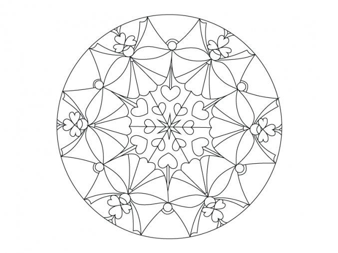 Šablona Mandala 0411
