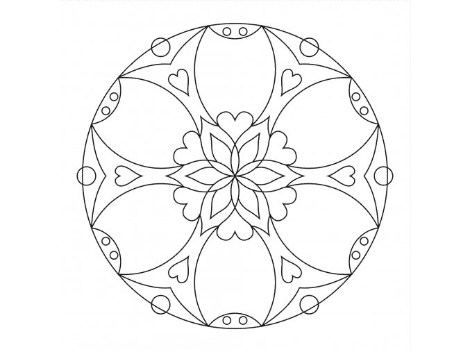 Šablona Mandala 0409