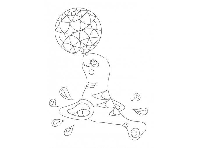 Šablona Lachtan s míčkem