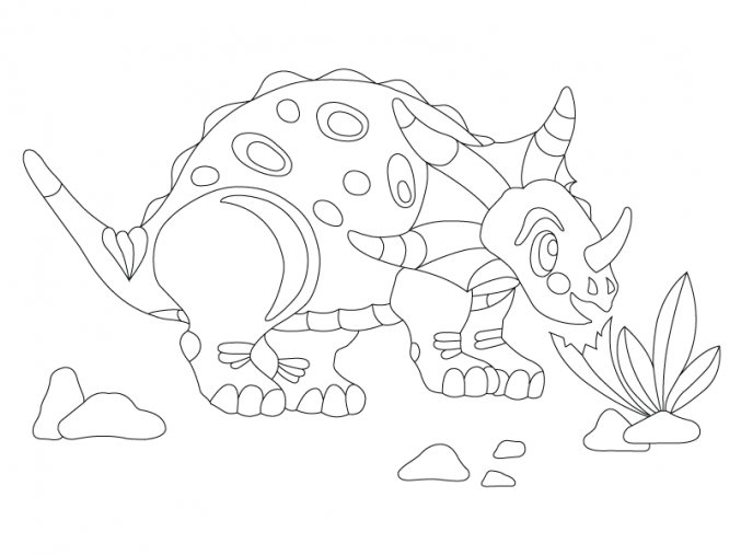 Šablona Dinosaurus Triceratops