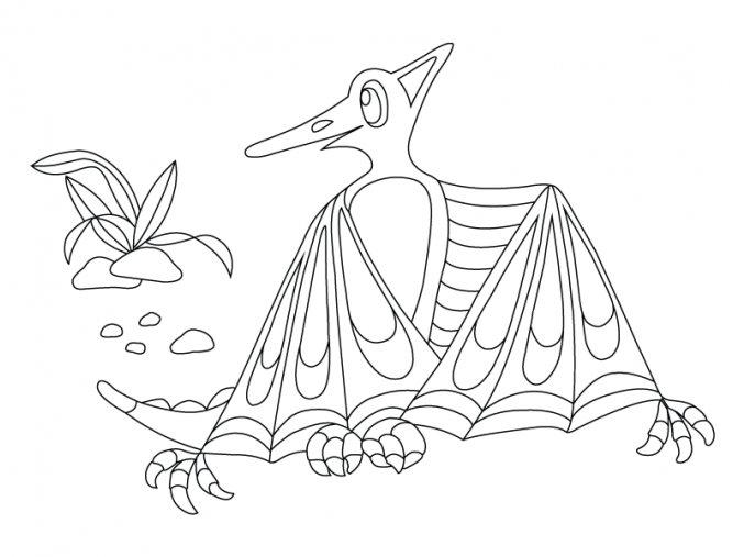 Dinosaurus Pterodaktyl