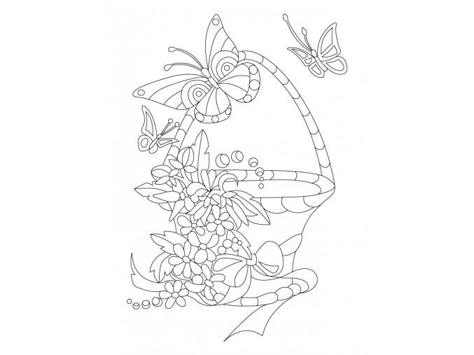 Šablona Košík plný květin