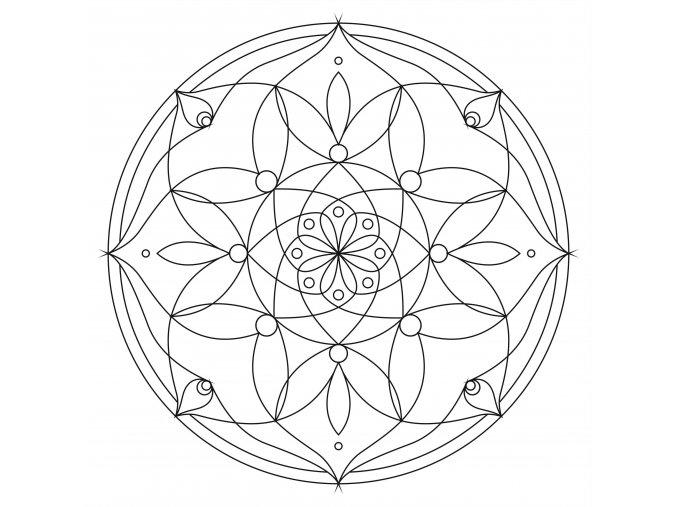Šablona Mandala 0101