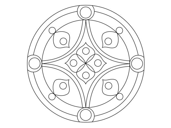 Šablona Mandala 0511