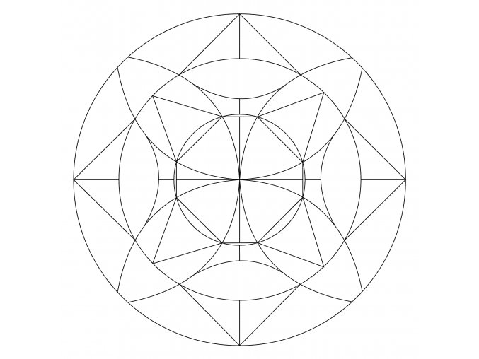 Šablona Mandala 0510