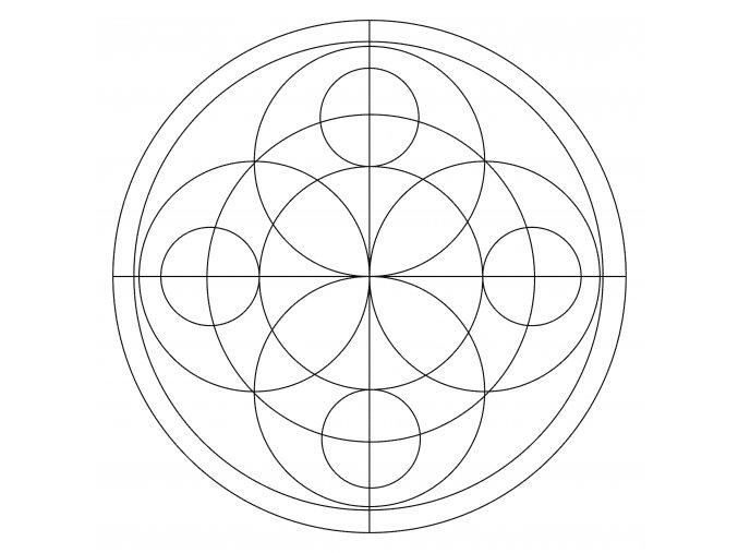 Šablona Mandala 0509