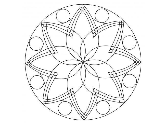 Šablona Mandala 0506