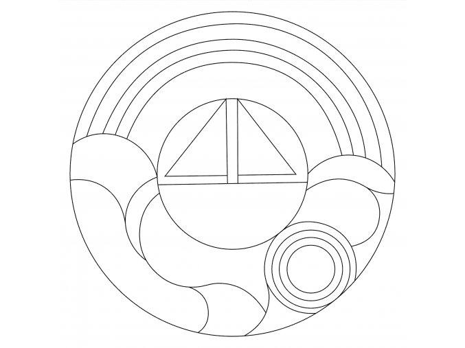 Šablona Mandala 0505