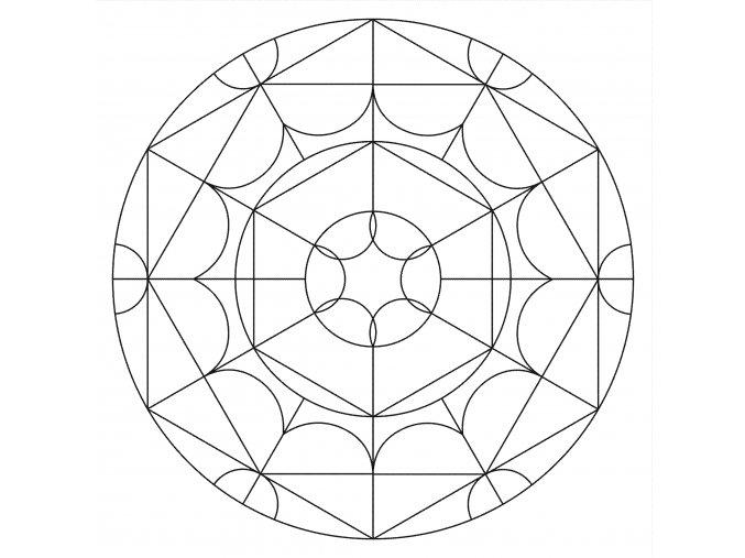 Šablona Mandala 0523