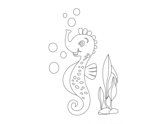 Šablona Mořský koník