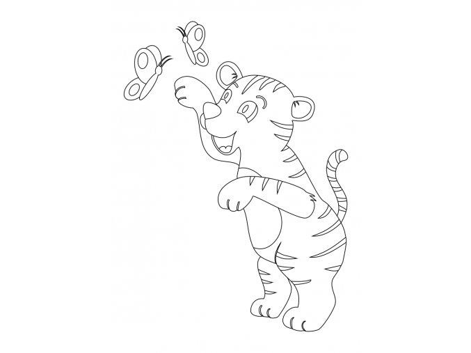 Šablona Tygřík