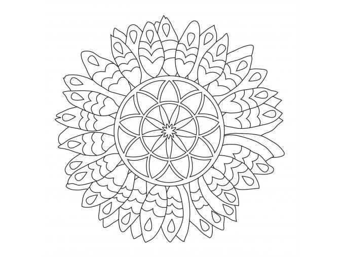 Šablona Mandala se slunečnicí