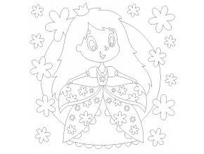 Princezna s květinami