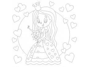 Princezna se srdíčky