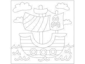 Šablona Pirátská loď