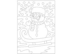 Šablona Sněhulák
