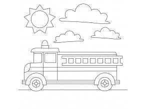 Šablona Hasičské auto