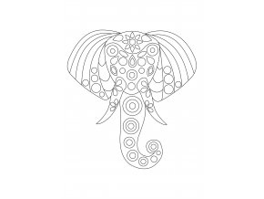 Šablona Hlava slona