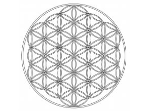Šablona Mandala Květ života 2