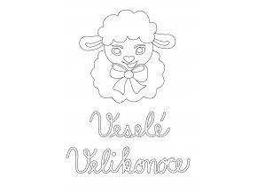 Šablona Velikonoční motiv s ovečkou