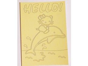 Šablona Hello Kitty na delfínovi