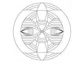 Šablona Mandala 0434