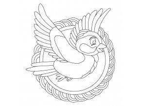 Šablona Ptáček