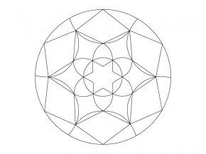 Šablona Mandala 0502