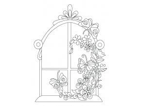 Šablona Rozkvetlé okno