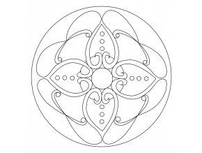 Šablona Mandala 0107