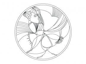 Šablona Mandala 0414