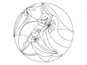 Šablona Mandala 0406