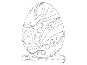 Šablona Velikonoční motiv vajíčko