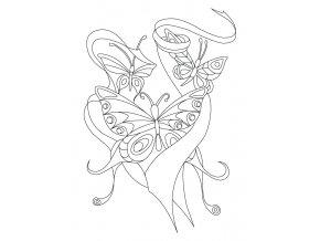 Motýlci poletující ve stuhách