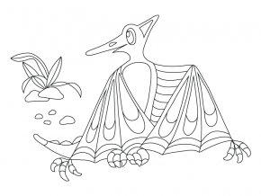 Šablona Dinosaurus Pterodaktyl