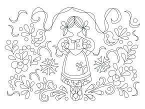 Šablona Valašský motiv panenka