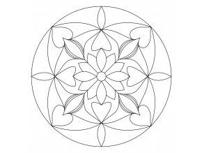 Šablona Mandala 0104