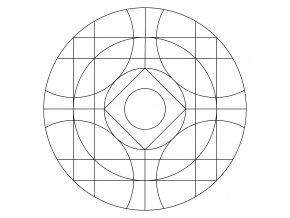 Šablona Mandala 0518
