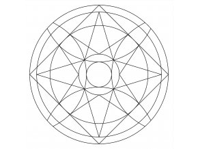 Šablona Mandala 0519