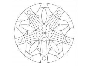 Šablona Mandala 0420