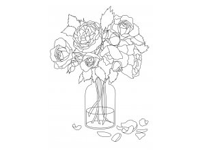 Šablona Kytice růží