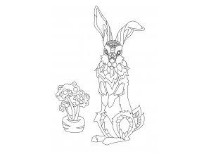 Šablona Zajíc s mrkví