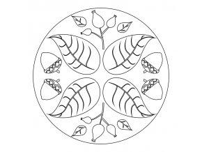 Šablona Podzimní mandalka