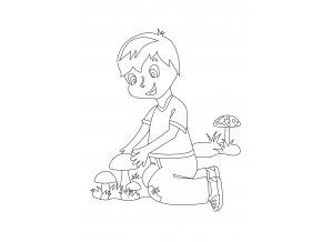 Chlapeček s hříbky