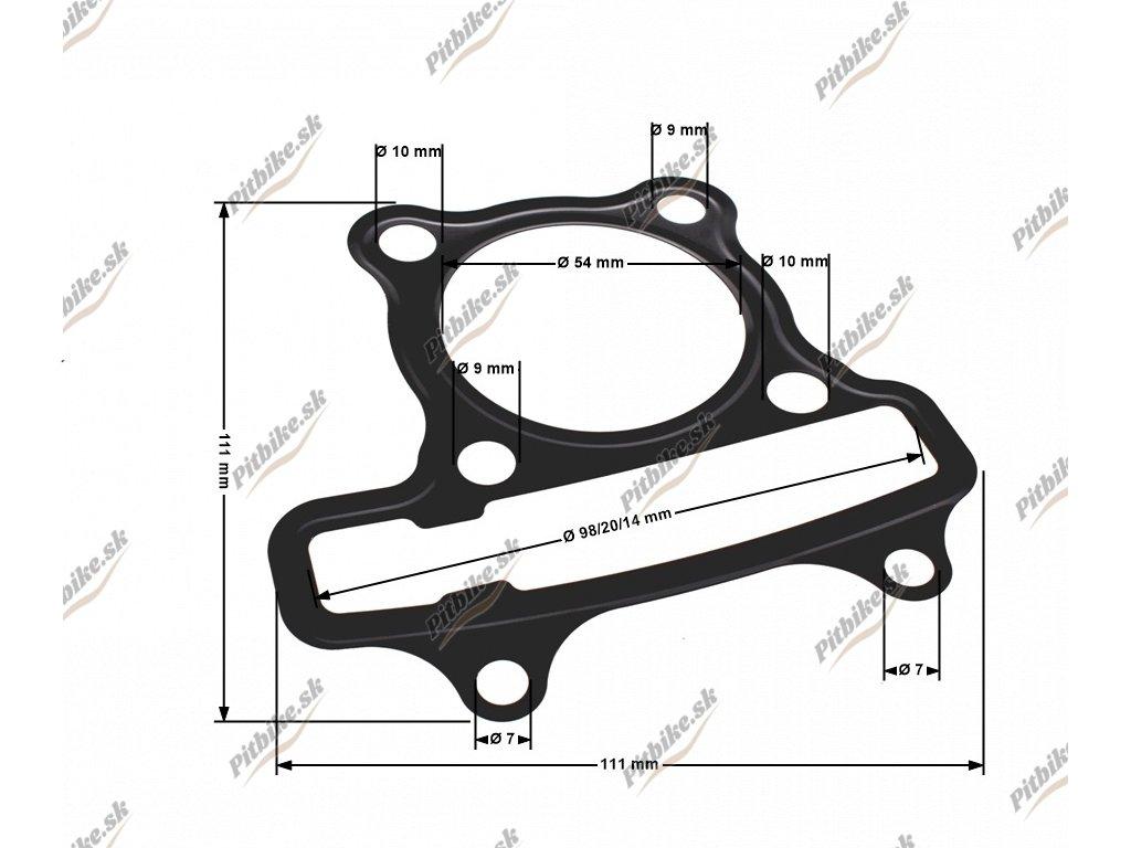 PIT02375 Tesnenie pod hlavu motora 125cc 52,40mm GY6 1