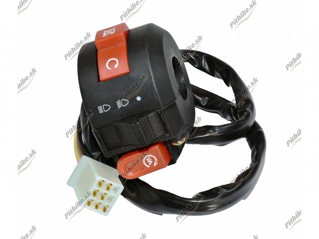 Prepínač svetiel 1 konektorový 7 pin ATV 110 125cc 7723100551540 (2)
