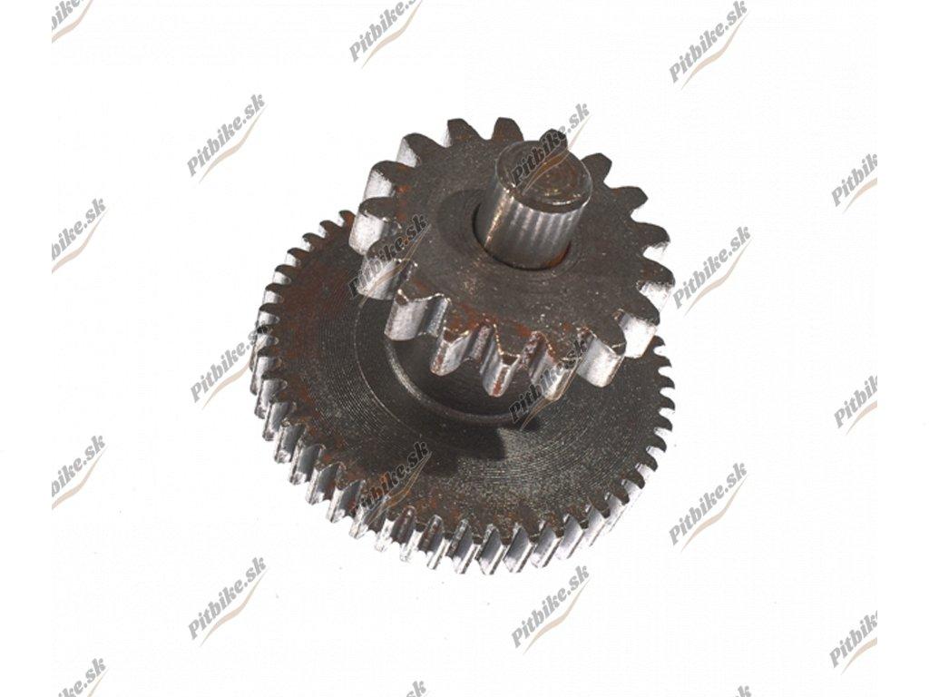 PIT00398 Ozubené koleso štartéra 49z17z + hriadeľ
